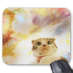 Shop Galaxy Cat Floating In Space Mouse Pad created by Stark_Raving_Realist. Floating In Space, Galaxy Cat, Cat Mouse, Custom Mouse Pads, Pet Gifts, Cat Art, Floral Watercolor, Pets, Mousepad