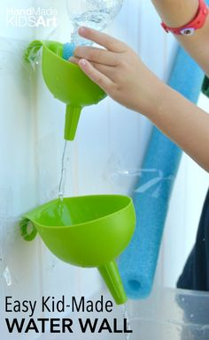 Keep your creative kids busy this summer with a STEAM powered water play activity. Challenge your child problem solving skills with a STEM engineer challenge to design and create their own water wall.