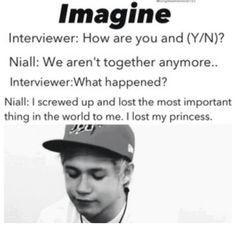 Aww that'll never happen baby I promess I'll always be by your side <3