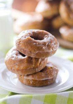 glazed pumpkin donuts.