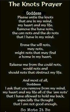 Wiccan prayer