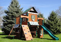 Have Fun This Summer With Swing-N-Slide Juneau Wood Complete Play Set | Two of a kind, working on a full house