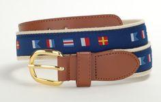 Boating belts Wholesale Nautical Boat Sports Leather Belt Wholesale 9807N