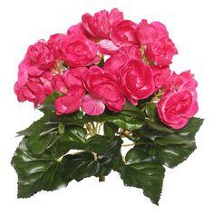 Artificial Begonia Bush (9.5) Hot Pink - Vickerman