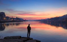 Île Barbe - Enjoying a colorful dawn at Île Barbe in the Saone river in Lyon. Looking forward to more of these sunsets this december!