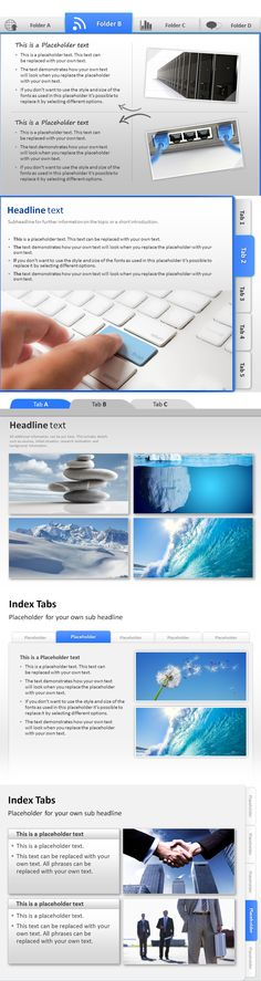 Index Tabs for a structured navigation of your PowerPoint presentation.