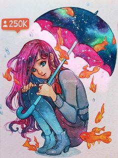 Rain Qinni Watercolor 2016