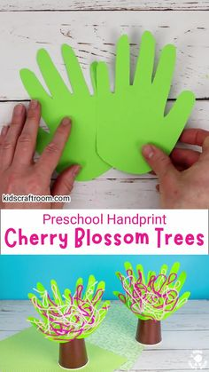 This Handprint Cherry Blossom Tree Craft is so pretty. It's a lovely spring tree craft to decorate the home or classroom. This handprint craft is really easy and fun for preschoolers. This spring craft is so cute and cheerful and will look lovely on a shelf or windowsill! #kidscraftroom #kidscrafts #springcrafts #handprintcrafts #preschoolcrafts #blossom #cherryblossom Kids Wedding Activities, Christmas Activities For Kids, Easy Crafts For Kids, Craft Activities For Kids, Preschool Crafts, Cherry Blossom Tree, Blossom Trees, Tree Crafts, Paper Crafts