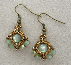 Linda's Crafty Inspirations: Indu's Bezel Earrings