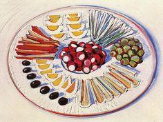 Wayne Thiebaud: Fruits and dairy foods