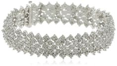 Sterling Silver 3.0 Cttw #Diamond Bracelet    beauty.techreports.us Your #1 Source for Jewelry and Accessories