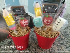 Teacher Cake Pops! These were made by Nikki's Cake Pops - createdbynik@gmail.com in NE PA.