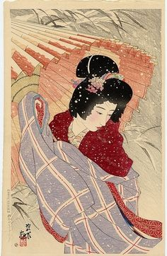 Ito Shinsui (1898-1972) was the pseudonym of a Nihonga painter and ukiyo-e woodblock print artist in Taishō and Shōwa period Japan. He was one of the great names of the shin-hanga art movement, which revitalized the traditional art after it began to decline with the advent of photography in the early 20th century. His real name was Itō Hajime.