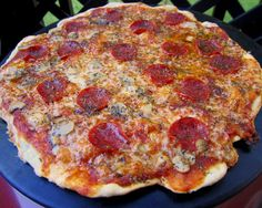St. Louis Style Pizza - cracker thin crust - SO good!! No yeast and no waiting on the crust to rise! Perfect weeknight pizza dough