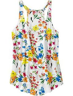 Floral Print Racerback Tank from Old Navy (practically goes with any color pant/skirt/short)