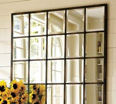 75 Hallway Mirror Ideas | Shelterness.    Could use white trim between the tiles