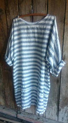 Linen Striped Dress MegbyDesign! Clothing, Shoes & Jewelry - Women - Clothing - Lingerie, Sleep & Lounge - Lingerie - Shapewear - shapewear for women plus size - http://amzn.to/2m8cx4N