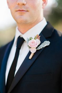 Pink and gold wedding ideas. Pink boutonnieres.