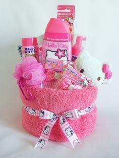 Hello Kitty Towel Cake for Girls