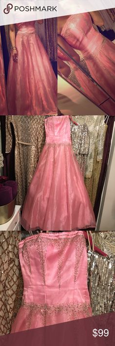 Pink beaded embellished formal gown ! 💕👗 Pink beaded embellished prom / homecoming / formal gown! This dress has only been worn once and is absolutely stunning! Dresses Prom