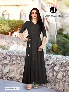 cba32b3fe34bd VF INDIA COIN MASTER VOL 3 LONG CASUAL WEAR KURTIS WHOLESALE DEALER ON  BIDDMART (2)