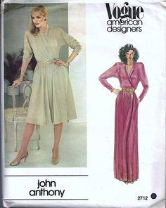 Vintage Vogue 2712 John Anthony Designer Pattern by SewingSteps, $9.95