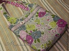 """Сумка """"Вальс цветов"""" - серебряный,цветочный,серый,сумка,женская сумка"""