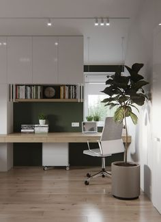 Our home office was completely executed in fresh, clean colors. Have created such a space in which it will be easy and cozy. In this office, it's easy to co... | Home Office Ideas For Him | Small Home Office | Home Office Design Layout | Office Designs Ideas | Home And Office Decor. #homedecor #Home office