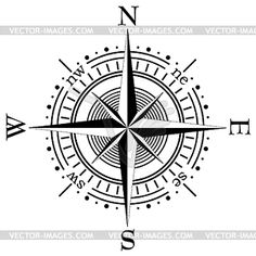 nautical compass drawing - Google Search