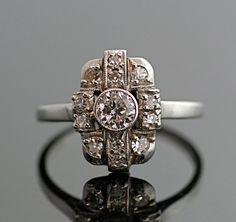 Antique Art Deco Diamond Ring.