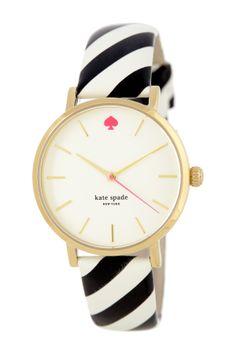 women's metro black & white watch on HauteLook