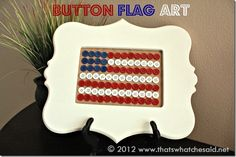 Button Flag Art from