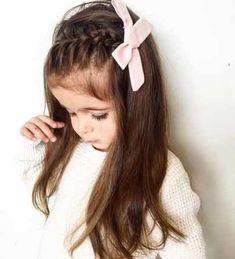 Easy Little Girl Hairstyles, Little Girl Braids, Cute Girls Hairstyles, Kids Braided Hairstyles, Box Braids Hairstyles, Girls Braids, Thin Hairstyles, Updos For Little Girls, Side Braids