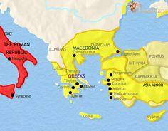 history map of Greece and the Balkans 200BC