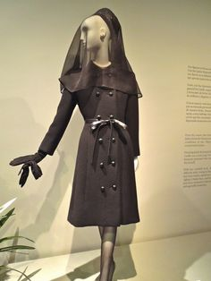 Mourning and funeral attire worn by Wallis to the Duke's funeral; Hubert de Givenchy - Fashion at the Thyssen-Bornemisza
