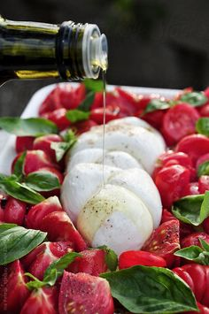 Food: Bulls heart tomatos Caprese Salad by Ina Peters