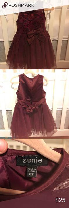 2T dress Only worn once- 2T Zunie maroon dress Zunie Dresses Formal
