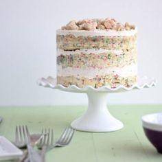 Momofuku Milk Bar Birthday Layer Cake. by bakeyourday #Birthday_Cake #Momofuku