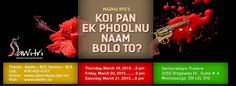 """Koi Pan Ek Phoolnu Naam Bolo To?"" (Tell me the name of any flower) – full length Gujarati play.   Directed by: Naimesh Nanavaty and Jasmine Sawant. Dramaturge: Prakash Date. Lighting Design: Joe Pagnan. Music: Dusty Starr. Cast: Naimesh Nanavaty, Shruti Shah, Sunil Lariya, Jai Bhavsar, Sachin Trivedi, Chintan Nayak & Jasmine Sawant. A psychological … Performing Arts, Koi, Lighting Design, Jasmine, Theatre, It Cast, Presents, Play, Flower"