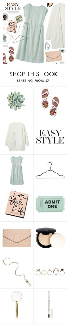 """""""mint linen dress"""" by jesuisunlapin ❤ liked on Polyvore featuring Kershaw, Tory Burch, Monki, Polaroid, Nomess, Kate Spade, Dorothy Perkins, NYX, Iosselliani and El Casco"""