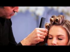 How to Pin Curl Long Hair   Long Hairstyles - YouTube