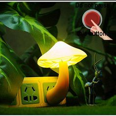 #manythings.online Safe and durable, Energy saving design. Lightweight and portable. Cute and adorable #mushroom night light Colorful mushroom-shaped LED night l...