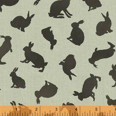 Gray Rabbit Silhouettes, Garden Tales by Windham Fabrics at Creative Quilt Kits