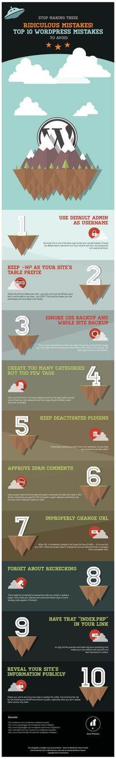 10 errores a evitar en WordPress #blogguer