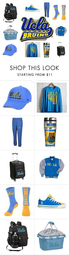 """""""UCLA"""" by ellie20000 ❤ liked on Polyvore featuring '47 Brand, Tailgate, adidas, MOJO and Picnic Time"""