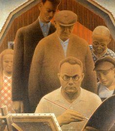 "Grant Wood ""Return from Bohemia"" 1935 (Figge Art Museum, Davenport, Iowa)"