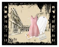 """Lovely pink dress"" by meri-husic ❤ liked on Polyvore"