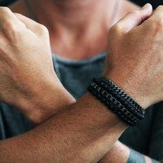 Carpe Diem Black Man Beaded Bracelet