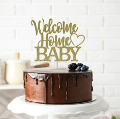 Baby Shower Cake Topper Gender Reveal Cake Topper Pregnancy Celebration Welcome Baby Boy Cake Topper Baby Announcement Baby Sprinkle