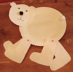 """(X) cute polar bear craft paired with """"Polar Bear, Polar Bear, What Do You Hear?"""" preschool yoga story time"""